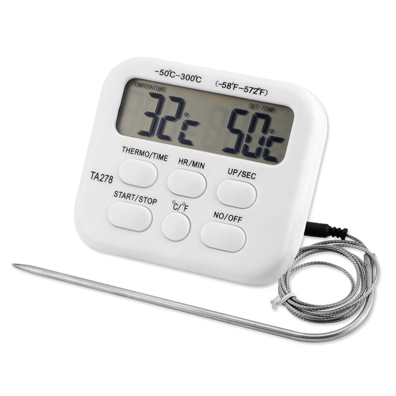 1 Pcs Digital Oven Thermometer Kitchen Food Cooking Meat Grill Probe With Timer Water Milk Temperature Cooking Kitchen Tools