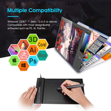 6x4 inch Drawing Tablet VEIKK S640 Graphic Drawing Tablet Ultra-Thin Pen Tablet with 8192 Levels Battery-Free Passive Pen