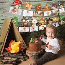 цена на PATIMATE Animal Birthday Banner Safari Party Jungle Party Decorations Happy Birthday Safari Jungle Theme Party Favors Kids Gifts