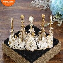 5.31*4.33 Alloy Crown Cake Topper Fantastic Romantic Wedding Decoration Bride Accessories Party Supplies