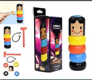 1 Juego de juguetes mágicos irrompibles de madera para hombre, juguetes mágicos inmortales Daruma, accesorios mágicos para escenario, Juguetes Divertidos para niños, regalo divertido