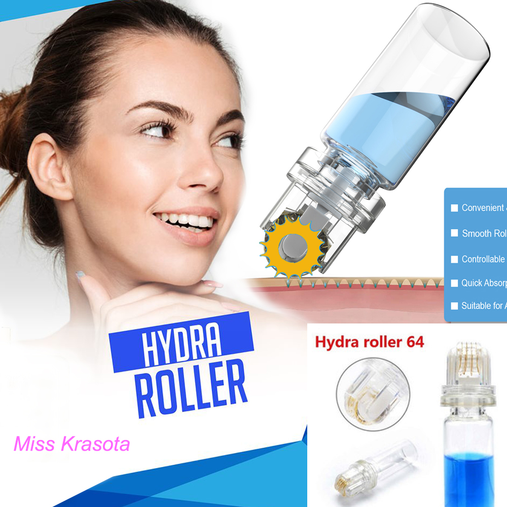 New Hydra Roller 64 Titanium Needles Micro Needle Derma Roller Anti Aging Wrinkle Removal Meso Roller