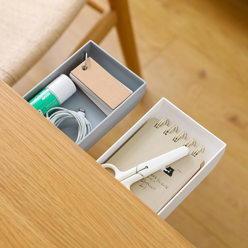 Creative Desk Storage Box Repeated Use Stationery Box Drawer Cosmetic Storage Box Office Storage Office Organization No Trace