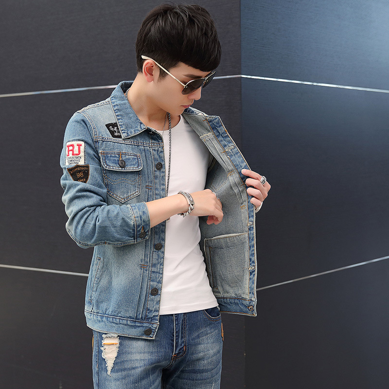 Hip Hop Overcoats Casual Streetwear Destroyed Jeans Flight Jacket Men Ripped Denim Jean Jackets