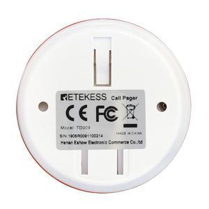 Image 5 - 10 sztuk Retekess TD009 połączenie bezprzewodowe przycisk opiekun restauracja Pager wodoodporna dla starszych pacjentów dla T114 i TD108 TD106