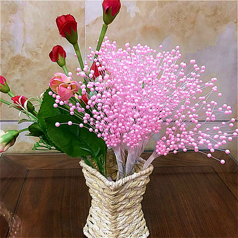 Dried Flowers Bouquet Floral-Arrangement-Accessories Twigs Decoration Diy Artificial title=