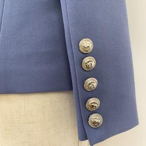 Image 5 - Blazer, nouveauté tendance, croisé, boutons lions, blouson de styliste pour femmes 2020