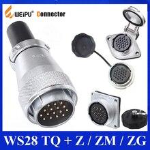 Original WEIPU WS28 TQ + Z ZM ZG 2 3 4 7 8 9 10 12 16 17 20 24 26 Pin Connector Male Plug Female Socket,plug socket connector