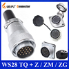 מקורי WEIPU WS28 TQ + Z ZM ZG 2 3 4 7 8 9 10 12 16 17 20 24 26 פין מחבר זכר תקע שקע נקבה, תקע שקע מחבר