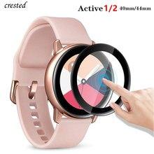 Стекло для samsung Galaxy Watch Active 2 44 мм 40 мм/46 мм/42 мм gear S3 Frontier/S2/Sport 3D HD полноэкранная защитная пленка Active2