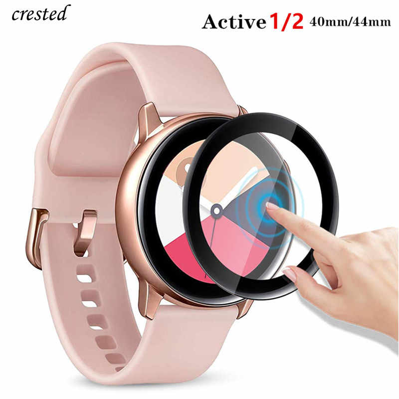 Szkło do Samsung Galaxy Watch Active 2 44mm 40mm/46mm/42mm Gear S3 Frontier/S2/Sport 3D HD folia ochronna na cały ekran Active2