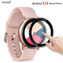 Szkło do Samsung Galaxy zegarek aktywny 2 44mm 40mm 46mm 42mm biegów S3 Frontier S2 Sport 3D HD pełna folia ochronna Active2 tanie tanio NoEnName_Null Ultra-cienki Nano powlekane szkło hartowane filmu For Samsung Galaxy Watch Active 2 Screen Protector For Samsung Gear S3 S2