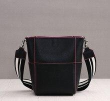 MZORANGE 2018 New Brand Genuine Leather Bags Fashion Bucket Bag Shoulder Designer Handbags High Quality Shopping