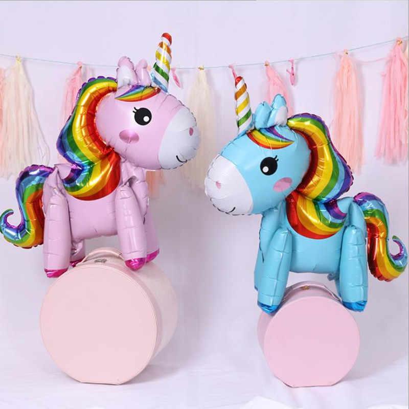 1PC 57*58CM ורוד קטן סוס בלון unicorn הליום רדיד בלון ילדים צעצועי חתונה יום הולדת המפלגה בעלי החיים עיצוב הבית