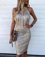 Женские вечерние платья миди с блестками и кисточками облегающее