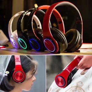 Image 3 - B39 Bluetooth אוזניות אלחוטי נייד מתקפל אוזניות תמיכת שיחת mp3 נגן עם מיקרופון LED צבעוני אורות