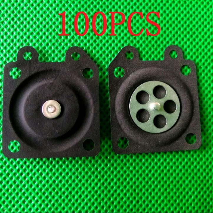 100PCS Chainsaw Carburetor Parts Membrane Pads Repair Parts Metering Diaphragm Gaskets For Wabro Brush Cutter Carb