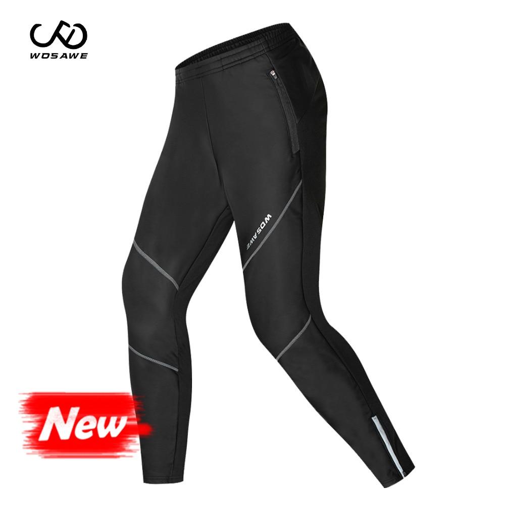 Fleece Thermal Winter Cycling Pants Bike Waterproof Windproof Tights Men Riding