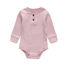 Baby Girl Clothes Newborn Boys Girls Clothes Solid Print Jumpsuit Long Sleeve Infant Casual Romper Outfits for Baby 2018 baby girls clothes baby romper toddler infant baby girl cartoon pig love print long sleeve jumpsuit romper clothes jy24 f