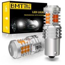 Bmtxms 2x PY21W BAU15S 7507 Led Turn Siganl Licht Canbus Voor Passat B5 B6 B7 B8 Cc Bora Beetle 9C1 golf 4 5 6 7 MK6 MK7 Scirocco