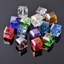 3mm 4mm 6mm 8mm 10mm cubo quadrado facetado checo cristal vidro solto artesanato contas atacado lote para fazer jóias diy