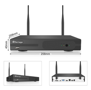 Image 3 - Techage 4CH 1080P Drahtlose Kamera NVR System 2MP Wifi 4 Array LED 2 Weg Audio Sound Video Im Freien sicherheit Überwachung CCTV Kit
