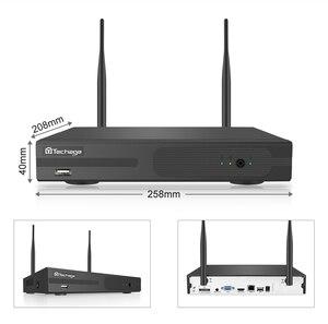 Image 3 - Techage 4CH 1080P kablosuz kamera NVR sistemi 2MP Wifi 4 sıralı led 2 yönlü ses ses Video açık güvenlik gözetim CCTV kiti