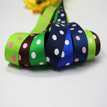 YAMA Polka Dot Ribbons with 2 Dot 22mm 100yards/roll Polyester Grosgrain Ribbon for Crafts DIY Decoration