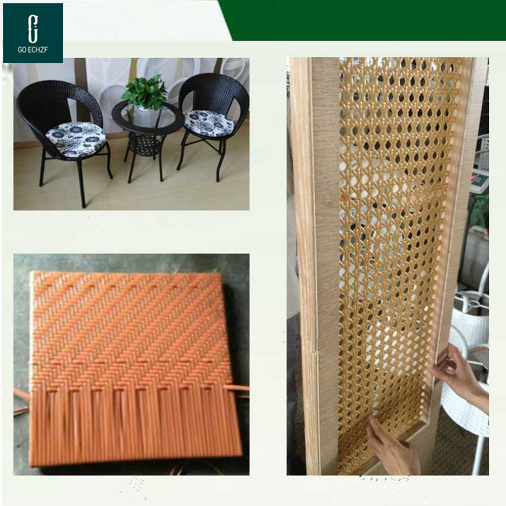 Round hollow 500g about 70 meters: synthetic rattan weaving material plastic rattan for chair table, tavolo rattan