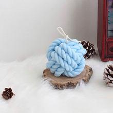 Moules de bougies en laine et Silicone 3d, Design en boule de laine coréenne, bougies soja faites à la main, fabrication de savon à la cire aromatique