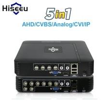 5 в 1 CCTV мини DVR TVI CVI AHD CVBS ip-камера цифровой видео рекордер 4CH 8CH AHD DVR NVR CCTV система P2P безопасности Hiseeu