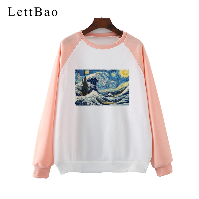 New Design Vincent Van Gogh Gothic Streetwear Hoodies Aesthetic Harajuku Sweatshirt Women Kpop Clothes Sudadera Mujer Tracksuit