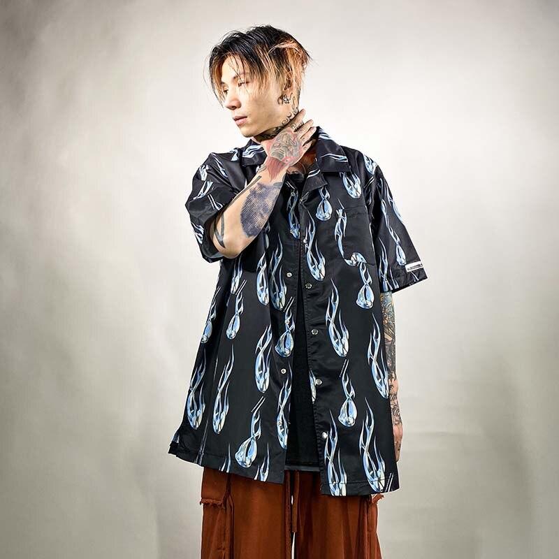 UNCLEDONJM Short Sleeve Shirt Men Street 2020 Hawaii Beach Oversize Women Fashion Harujuku Shirts For Men NB-NF16