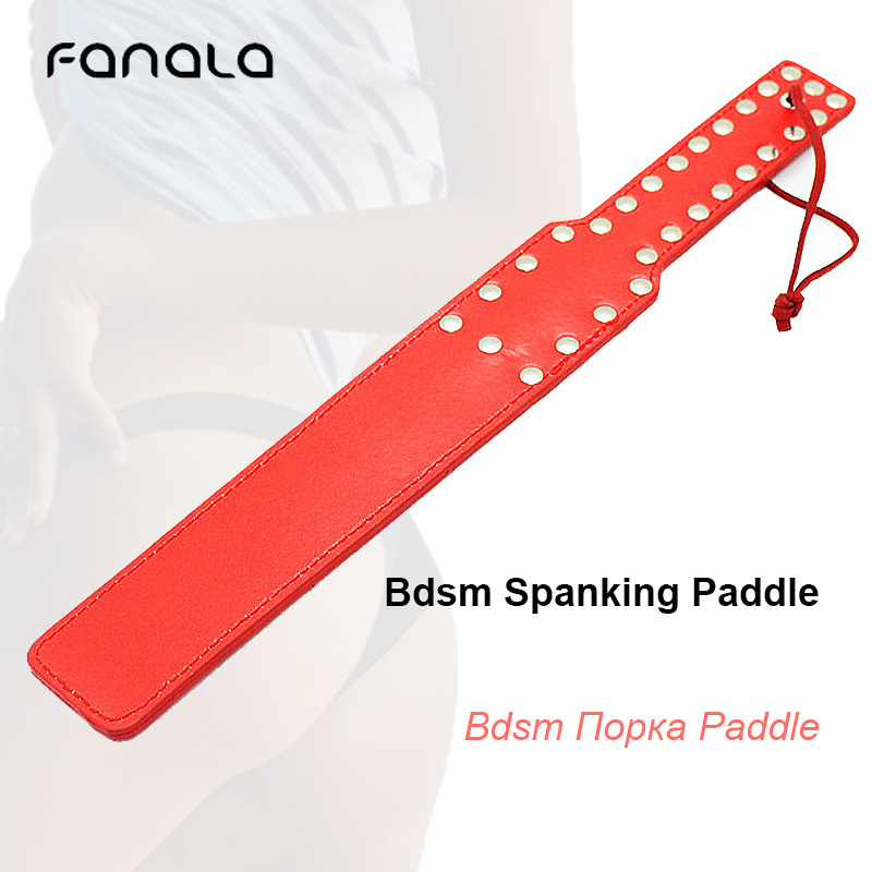 Leather Bdsm Spanking Paddles For Couple Sex Toy Slave Flogger Handle Fetish Adult Role Play Sluts Paddles Whip Women Sexy Toys