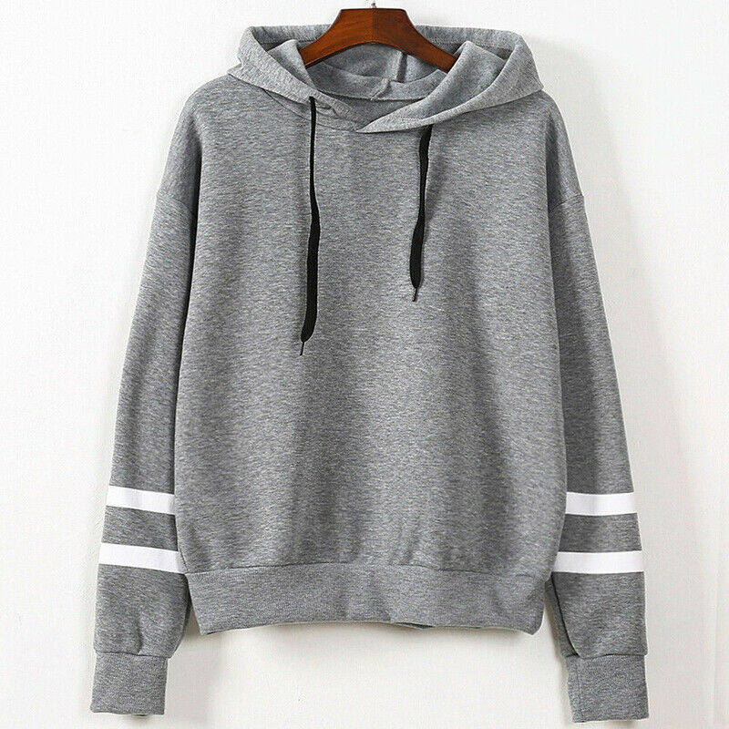 New Women Hoodie Long Sleeve Jumper Pullover Tops Coat Solid Winter Casual Fashion