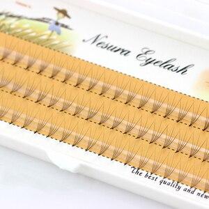 Image 1 - 0.07 C Curl Faux Ciglia di Visone 5D Pre made Lashes Ventole Naturale Lungo Ciglia Individuali