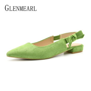 Women Heels Shoes Pointed Toe Slingbacks Woman Heels Pumps Mules Shoes Thick Heels Spring Summer Party Shoes Large Size цена 2017