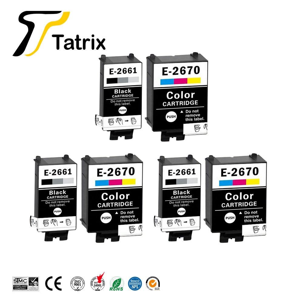 Tatrix для Epson T2661 T2670 T266 картридж, совместимый с пигментом EPSON 266 267, картридж для принтера Epson фактор WF100W, Европа