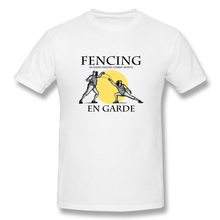 цена En Garde Fencing Combat Sports Casual O-Neck Men's Basic Short Sleeve T-Shirt 100% Cotton Tee Shirt Printed в интернет-магазинах