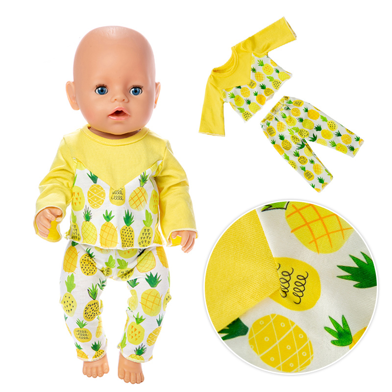 New Pineapple Suit Doll Clothes Fit For 43cm Baby Doll Clothes Reborn Doll Accessories