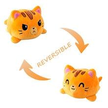 Presente de aniversário acessórios kawaii animais de pelúcia engraçado dupla face polvo de pelucia reversivel brinquedos unicornio gatos unicórnio