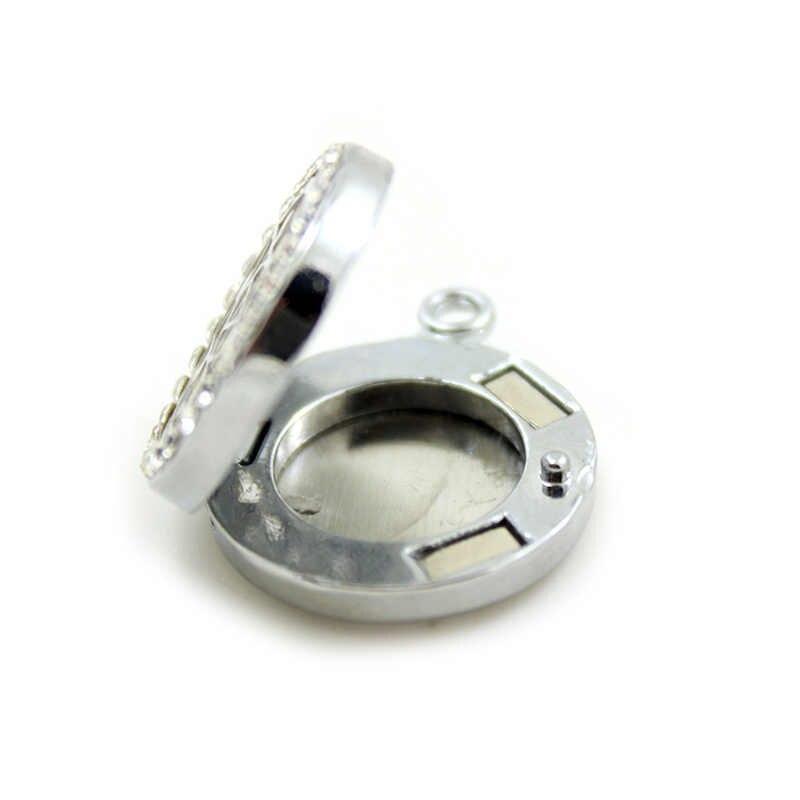 Collier de diffuseur d'huile essentielle de cristal de Style de mélange d'alliage de 20mm en gros, acceptent le CD219-239 de personnalisation