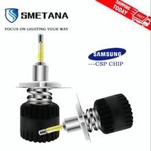 SMETANA A7 mit Samsung chips H1 H4 H7 LED H8 H9 H11 9005 9006 D1S D2S D3S D4S 2Pcs led Auto Scheinwerfer Led Scheinwerfer 11200LM 6500K