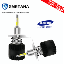 SMETANA A7 with Samsung chips H1 H4 H7 LED H8 H9 H11 9005 9006 D1S D2S D3S D4S 2Pcs Led Car Headlight Led Headlamp 11200LM 6500K