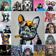 Animals Cow and Dog Graffiti Street Art Posters Canvas Painting and Prints Cuadros Wall Art Picture for Living Room Decor