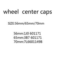 20 Stks/partij 56Mm 65Mm 70Mm Naafdeksel Hub Caps Emblem Badge Covers Auto Accessoires Styling 3B7601171 en 1J0601171