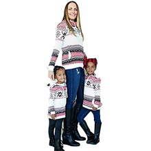 Family Matching Clothes Hoodies Print Christmas Set Women Girls Long Sleeve Costumes Halloween New