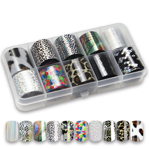Image 5 - 41 Types Charm Nail Foils Polish Stickers Metal Color Starry Paper Transfer Foil Wraps Adhesive Decals Nail Art Decorations