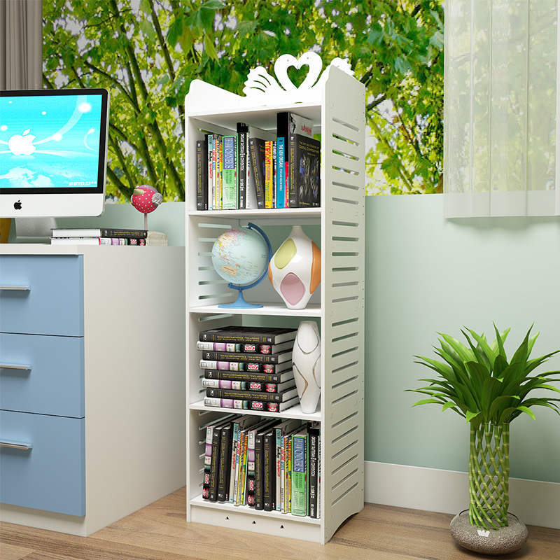Simplicity Floor Multilayer Bookshelf Bookcase Minimalist Modern Economical Living Room Storage Shelf Bedroom Storage Rack