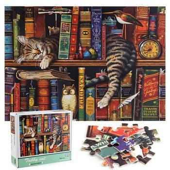 Leniwy kotek Puzzle 1000 sztuk układanki Puzzle regał krajobraz Puzzle DIY zabawka do montażu dla dorosłych Puzzle dla dzieci zabawki do gry tanie i dobre opinie SONGYI CN (pochodzenie) Unisex 8 lat Papier 3D PUZZLE Aegean Sea Landscape Puzzle 1000 Pieces